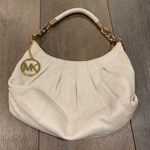 Cream leather MK bag .